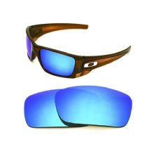 NEW POLARIZED CUSTOM ICE BLUE LENS FOR OAKLEY FUEL CELL SUNGLASSES